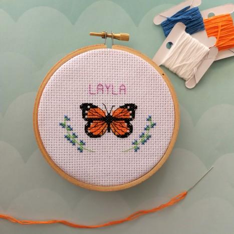 Cross stitch on aida